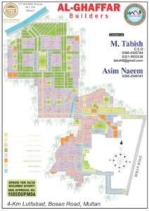 Citi Housing Multan Phase 1 map Al Ghaffar Builders