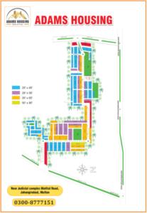 Adams Housing Multan Map