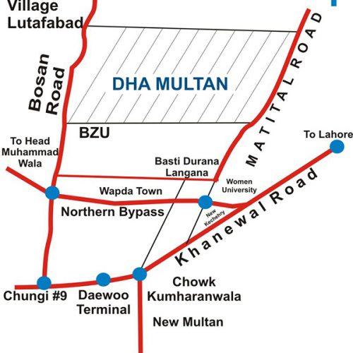 DHA-Multan-Location-Map